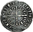 Photo numismatique  ARCHIVES VENTE 9 mars 2018 - Coll. Dr P. Corre BARONNIALES Comté de HAINAUT JEAN II d'Avesnes (1280-1304) 258- Baudekin du 1er type, Valenciennes, vers 1300/1302.