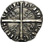 Photo numismatique  ARCHIVES VENTE 9 mars 2018 - Coll. Dr P. Corre BARONNIALES Comté de FLANDRE LOUIS de CRÉCY (1322-1346) 263- Demi-gros, Gand.