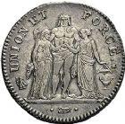 Photo numismatique  ARCHIVES VENTE 9 mars 2018 - Coll. Dr P. Corre MODERNES FRANÇAISES LE CONSULAT (à partir du 24 décembre 1799-18 mai 1804) Bonaparte 1er Consul 269- 5 francs, Bordeaux an 8.