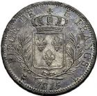 Photo numismatique  ARCHIVES VENTE 9 mars 2018 - Coll. Dr P. Corre MODERNES FRANÇAISES LOUIS XVIII, 1ère restauration (3 mai 1814-20 mars 1815)  278- 5 francs, Bayonne 1815.