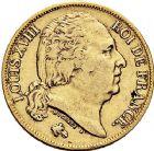Photo numismatique  ARCHIVES VENTE 9 mars 2018 - Coll. Dr P. Corre MODERNES FRANÇAISES LOUIS XVIII, 2e restauration (8 juillet 1815-16 septembre 1824)  281- 20 francs, Paris 1817.