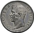 Photo numismatique  ARCHIVES VENTE 9 mars 2018 - Coll. Dr P. Corre MODERNES FRANÇAISES CHARLES X (16 septembre 1824-2 août 1830)  284- 5 francs, Paris 1829.