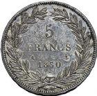 Photo numismatique  ARCHIVES VENTE 9 mars 2018 - Coll. Dr P. Corre MODERNES FRANÇAISES LOUIS-PHILIPPE Ier (9 août 1830-24 février 1848)  285- 5 francs sans le I, Paris 1830.