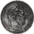 Photo numismatique  ARCHIVES VENTE 9 mars 2018 - Coll. Dr P. Corre MODERNES FRANÇAISES LOUIS-PHILIPPE Ier (9 août 1830-24 février 1848)  287- 5 francs, type hybride, Paris 1832.