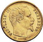 Photo numismatique  ARCHIVES VENTE 9 mars 2018 - Coll. Dr P. Corre MODERNES FRANÇAISES NAPOLEON III, empereur (2 décembre 1852-1er septembre 1870)  295- 5 francs or, Paris 1854 petit module.
