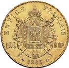 Photo numismatique  ARCHIVES VENTE 9 mars 2018 - Coll. Dr P. Corre MODERNES FRANÇAISES NAPOLEON III, empereur (2 décembre 1852-1er septembre 1870)  296- 100 francs or, Paris 1866.
