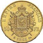 Photo numismatique  ARCHIVES VENTE 9 mars 2018 - Coll. Dr P. Corre MODERNES FRANÇAISES NAPOLEON III, empereur (2 décembre 1852-1er septembre 1870)  297- 50 francs or, Paris, 1866.