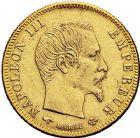 Photo numismatique  ARCHIVES VENTE 9 mars 2018 - Coll. Dr P. Corre MODERNES FRANÇAISES NAPOLEON III, empereur (2 décembre 1852-1er septembre 1870)  298- Lot de 2 monnaies de 5 francs or, Paris 1857 et 1866.