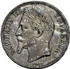 Photo numismatique  ARCHIVES VENTE 9 mars 2018 - Coll. Dr P. Corre MODERNES FRANÇAISES NAPOLEON III, empereur (2 décembre 1852-1er septembre 1870)  299- Lot de 2 monnaies de 5 francs argent, Lyon 1855, Strasbourg 1868.