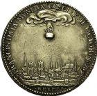 Photo numismatique  ARCHIVES VENTE 9 mars 2018 - Coll. Dr P. Corre JETONS et MÉDAILLES RARES LOUIS XIII (16 mai 1610-14 mai 1643)  Sacré à Reims, le 17 octobre 1610 307- Médaille en argent par Nicolas Varin.