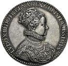 Photo numismatique  VENTE 9 mars 2018 - Coll. Dr P. Corre et divers JETONS et MEDAILLES RARES LOUIS XIII (16 mai 1610-14 mai 1643)  Sacré à Reims, le 17 octobre 1610 308- Médaille en argent par Nicolas Briot.