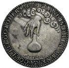 Photo numismatique  ARCHIVES VENTE 9 mars 2018 - Coll. Dr P. Corre JETONS et MÉDAILLES RARES LOUIS XIII (16 mai 1610-14 mai 1643)  Sacré à Reims, le 17 octobre 1610 308- Médaille en argent par Nicolas Briot.