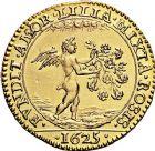 Photo numismatique  ARCHIVES VENTE 9 mars 2018 - Coll. Dr P. Corre JETONS et MÉDAILLES RARES LOUIS XIII (16 mai 1610-14 mai 1643)  Henriette de BOURBON et Charles Ier d'ANGLETERRE 310- Jeton en or de mariage, 13 juin 1625 par Pierre Régnier.
