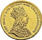 Photo numismatique  ARCHIVES VENTE 9 mars 2018 - Coll. Dr P. Corre JETONS et MÉDAILLES RARES LOUIS XIV (14 mai 1643-1er septembre 1715) Sacré à Reims, le 7 juin 1654 311- Jeton en or par Jean Varin.