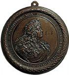 Photo numismatique  ARCHIVES VENTE 9 mars 2018 - Coll. Dr P. Corre JETONS et MÉDAILLES RARES LOUIS XIV (14 mai 1643-1er septembre 1715)  314- Médaillon uniface en fonte, par Francesco Bertinetti dit Bertinet.