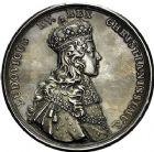 Photo numismatique  VENTE 9 mars 2018 - Coll. Dr P. Corre et divers JETONS et MEDAILLES RARES LOUIS XV (1er septembre 1715-10 mai 1774) Sacré à Reims, le 25 octobre 1722 318- Médaille en argent par Jean Duvivier.