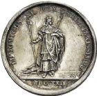 Photo numismatique  VENTE 9 mars 2018 - Coll. Dr P. Corre et divers JETONS et MEDAILLES RARES LOUIS XV (1er septembre 1715-10 mai 1774) Sacré à Reims, le 25 octobre 1722 319- Médaille en argent par Jean Duvivier et Jean Le Blanc.