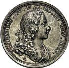 Photo numismatique  VENTE 9 mars 2018 - Coll. Dr P. Corre et divers JETONS et MEDAILLES RARES LOUIS XV (1er septembre 1715-10 mai 1774) Sacré à Reims, le 25 octobre 1722 320- Médaille en argent par Andreas Vestner.