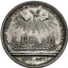 Photo numismatique  ARCHIVES VENTE 9 mars 2018 - Coll. Dr P. Corre JETONS et MÉDAILLES RARES LOUIS XV (1er septembre 1715-10 mai 1774) Sacré à Reims, le 25 octobre 1722 320- Médaille en argent par Andreas Vestner.
