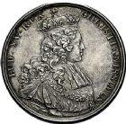 Photo numismatique  ARCHIVES VENTE 9 mars 2018 - Coll. Dr P. Corre JETONS et MÉDAILLES RARES LOUIS XV (1er septembre 1715-10 mai 1774) Sacré à Reims, le 25 octobre 1722 321-Lot de 3 médailles par J. C. Roettiers.