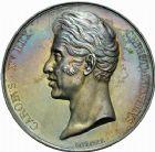 Photo numismatique  VENTE 9 mars 2018 - Coll. Dr P. Corre et divers JETONS et MEDAILLES RARES CHARLES X (1824-1830) Sacré à Reims, le 29 mai 1825 329- Médaille en argent de 51mm, par Raymond Gayrard.