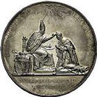 Photo numismatique  ARCHIVES VENTE 9 mars 2018 - Coll. Dr P. Corre JETONS et MÉDAILLES RARES CHARLES X (1824-1830) Sacré à Reims, le 29 mai 1825 329- Médaille en argent de 51mm, par Raymond Gayrard.