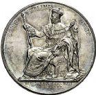 Photo numismatique  ARCHIVES VENTE 9 mars 2018 - Coll. Dr P. Corre JETONS et MÉDAILLES RARES CHARLES X (1824-1830) Sacré à Reims, le 29 mai 1825 331- Médailles en argent (2) de 41 et 35mm, par Raymond Gayrard.