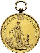 Photo numismatique  ARCHIVES VENTE 9 mars 2018 - Coll. Dr P. Corre JETONS et MÉDAILLES RARES 2ème RÉPUBLIQUE (1848-1852)  335- Médaille en or de la Société des Incas, Valenciennes (Nord), 1851 par Malfeson.