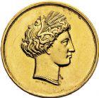 Photo numismatique  ARCHIVES VENTE 9 mars 2018 - Coll. Dr P. Corre JETONS et MÉDAILLES RARES NAPOLÉON III (1852-1870)  337- Médaille en or du Comice agricole de l'Arrondissement de Reims, gravée en 1867.