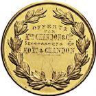Photo numismatique  VENTE 9 mars 2018 - Coll. Dr P. Corre et divers JETONS et MEDAILLES RARES 3ème RÉPUBLIQUE (1871-1940)  339- Médaille en or de la Ville d'Épernay (Marne), offerte par Mrs Chandon.