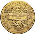 Photo numismatique  ARCHIVES VENTE 9 mars 2018 - Coll. Dr P. Corre JETONS et MÉDAILLES RARES 3ème RÉPUBLIQUE (1871-1940)  343- Médaille en or du concours hippique de Vervins (Aisne), 1890.