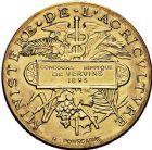 Photo numismatique  VENTE 9 mars 2018 - Coll. Dr P. Corre et divers JETONS et MEDAILLES RARES 3ème RÉPUBLIQUE (1871-1940)  344- Médaille en or du concours hippique de Vervins (Aisne), 1893.