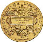 Photo numismatique  ARCHIVES VENTE 9 mars 2018 - Coll. Dr P. Corre JETONS et MÉDAILLES RARES 3ème RÉPUBLIQUE (1871-1940)  345- Médaille en or du concours hippique de Vervins (Aisne), 1894.