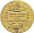 Photo numismatique  ARCHIVES VENTE 9 mars 2018 - Coll. Dr P. Corre JETONS et MÉDAILLES RARES 3ème RÉPUBLIQUE (1871-1940)  347- Médaille en or du concours hippique de Cambrai, 1912.