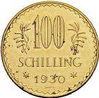 Photo numismatique  ARCHIVES VENTE 9 mars 2018 - Coll. Dr P. Corre MONNAIES DU MONDE AUTRICHE République (depuis 1918) 357- 100 Schilling, 1930. Aigle.