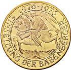 Photo numismatique  ARCHIVES VENTE 9 mars 2018 - Coll. Dr P. Corre MONNAIES DU MONDE AUTRICHE République (depuis 1918) 358- 1000 Schilling or, 1976. Millénaire. Cavalier à gauche.