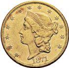 Photo numismatique  ARCHIVES VENTE 9 mars 2018 - Coll. Dr P. Corre MONNAIES DU MONDE ÉTATS-UNIS d'AMÉRIQUE du NORD  365- 20 dollars 1871.