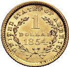 Photo numismatique  ARCHIVES VENTE 9 mars 2018 - Coll. Dr P. Corre MONNAIES DU MONDE ÉTATS-UNIS d'AMÉRIQUE du NORD  367- Dollar, 1854.
