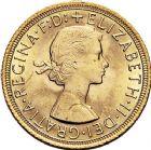 Photo numismatique  ARCHIVES VENTE 9 mars 2018 - Coll. Dr P. Corre MONNAIES DU MONDE GRANDE-BRETAGNE ELIZABETH II (depuis 1952) 369- Souverain or, 1963.