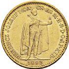 Photo numismatique  ARCHIVES VENTE 9 mars 2018 - Coll. Dr P. Corre MONNAIES DU MONDE HONGRIE FRANCOIS-JOSEPH (1848-1916) 370- 20 Korona or, Kremnitz, 1893.