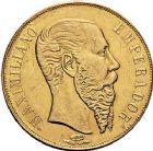 Photo numismatique  ARCHIVES VENTE 9 mars 2018 - Coll. Dr P. Corre MONNAIES DU MONDE MEXIQUE MAXIMILIEN, empereur (1864-1867) 375- 20 pesos, 1866.