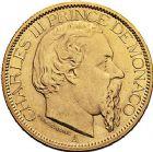 Photo numismatique  ARCHIVES VENTE 9 mars 2018 - Coll. Dr P. Corre MONNAIES DU MONDE MONACO CHARLES III (1856-1889) 376- 100francs, Paris 1884.