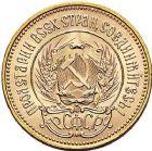 Photo numismatique  ARCHIVES VENTE 9 mars 2018 - Coll. Dr P. Corre MONNAIES DU MONDE RUSSIE URSS. (1917-1991) 378- 10 roubles or, ou Chervonetz, 1976.