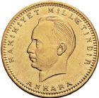 Photo numismatique  ARCHIVES VENTE 9 mars 2018 - Coll. Dr P. Corre MONNAIES DU MONDE TURQUIE République (Depuis 1923) 381- Président ISMET INONU. 500 piastres, Ankara 1923/23.