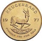 Photo numismatique  ARCHIVES VENTE 9 mars 2018 - Coll. Dr P. Corre MONNAIES DU MONDE AFRIQUE DU SUD République depuis 1960 386- Krugerrand or, 1977.
