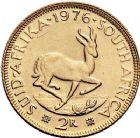 Photo numismatique  ARCHIVES VENTE 9 mars 2018 - Coll. Dr P. Corre MONNAIES DU MONDE AFRIQUE DU SUD République depuis 1960 387- 2 Rand or, 1976.