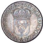 Photo numismatique  ARCHIVES VENTE 8 mars 2018 - Coll D. Fenouil ROYALES FRANCAISES LOUIS XIII (16 mai 1610-14 mai 1643)  2- Écu blanc de 60 sols, premier poinçon de Warin, 1642, A *, PARIS.