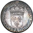 Photo numismatique  ARCHIVES VENTE 8 mars 2018 - Coll D. Fenouil ROYALES FRANCAISES LOUIS XIV (14 mai 1643-1er septembre 1715)  4- Écu blanc à la mèche courte, 1643, A., PARIS.