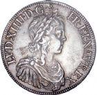 Photo numismatique  ARCHIVES VENTE 8 mars 2018 - Coll D. Fenouil ROYALES FRANCAISES LOUIS XIV (14 mai 1643-1er septembre 1715)  7- Écu blanc à la mèche longue, 1646, A, PARIS.