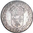 Photo numismatique  ARCHIVES VENTE 8 mars 2018 - Coll D. Fenouil ROYALES FRANCAISES LOUIS XIV (14 mai 1643-1er septembre 1715)  8- Écu blanc à la mèche longue, 1647, K, BORDEAUX.